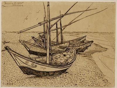 Fishing Boats on the Beach at Saintes-Maries-De-La-Mer, 1888