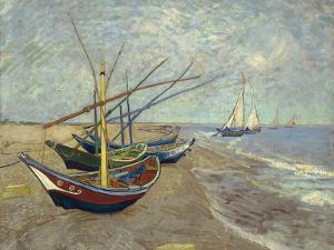 Fishing Boats on the Beach at Saintes-Maries-de-la-Mer, 1888 by Vincent van Gogh