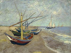 Fishing Boats on the Beach at Saintes-Maries-de-la-Mer, 1888 by Vincent van Gogh