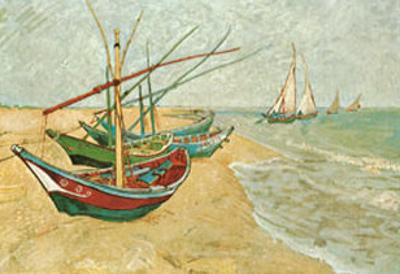 Fishing Boats on the Beach at Saints-Maries, c.1888