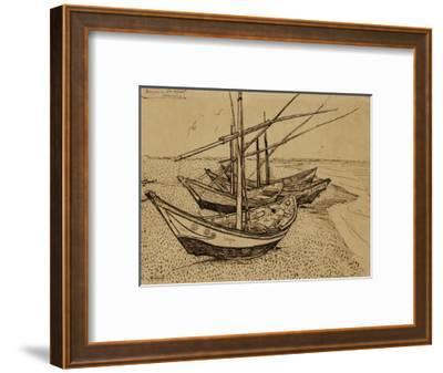 Fishing Boats on the Beach at Saints-Maries, c.1888