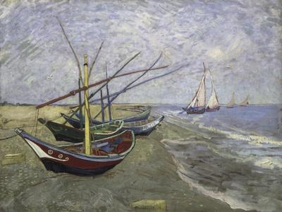 Fishing Boats on the Beachat Saintes, Maries