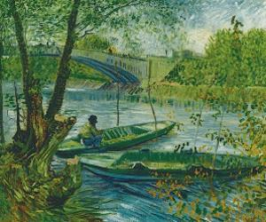 Fishing in the Spring, Pont de Clichy, c.1887 by Vincent van Gogh