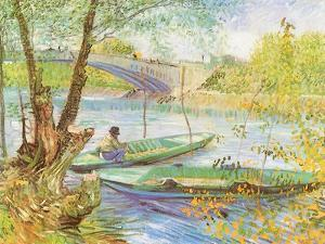 Fishing Near a Bridge, 1887 by Vincent van Gogh