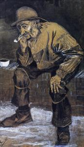 Fishman with a Sou'wester Sitting with a Pipe by Vincent van Gogh