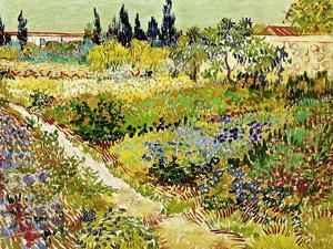 Flowering Garden with Path, Arles, 1888 by Vincent van Gogh