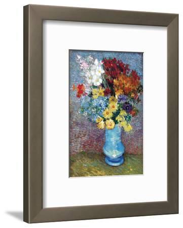 Flowers in a Blue Vase by Van Gogh