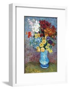 Flowers in a Blue Vase by Van Gogh by Vincent van Gogh