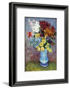 Flowers In a Blue Vase by Vincent van Gogh
