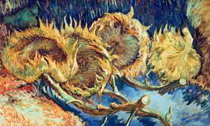 Four Cut Sunflowers, 1887 by Vincent van Gogh