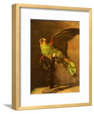 Green Parrot on Perch, 1886