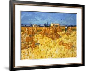 Harvest in Provence, June 1888 by Vincent van Gogh