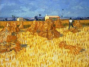 Harvest in Provence, June 1888 by Vincent van Gogh