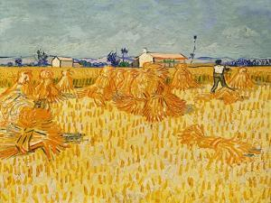 Harvest. Oil on canvas. by VINCENT VAN GOGH