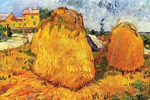 Haystacks in Provence, 1888 by Vincent van Gogh