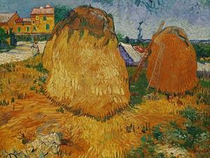 Haystacks in Provence, c.1888 by Vincent van Gogh