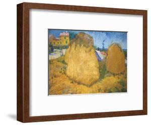 Haystacks in Provence, France (Heuschober in der Provence) by Vincent van Gogh