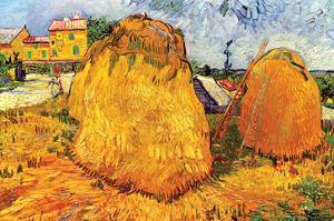 Haystacks in Provence by Vincent van Gogh