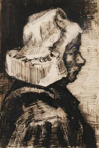 Head of a Peasant Woman, Facing Right, 1884 by Vincent van Gogh