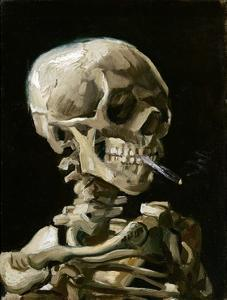 Head of a Skeleton with a Burning Cigarette by Vincent van Gogh