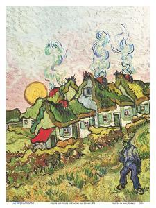 Houses and Figure (Häuser und Figur) by Vincent van Gogh