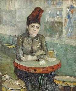 In the Cafe: Agostina Segatori in Le Tambourin by Vincent van Gogh