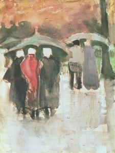 In the Rain, 1882 by Vincent van Gogh