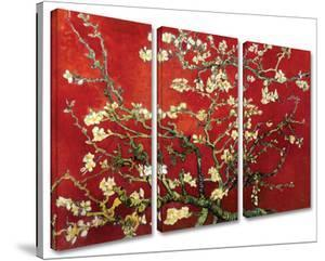 Interpretation in Red Almond Blossom 3-Piece Set by Vincent van Gogh