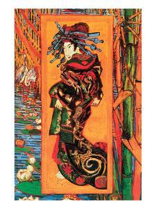 Japanaiserie: Oiran by Vincent van Gogh