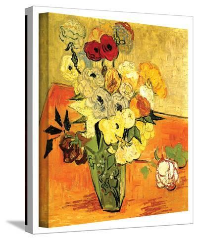 Vincent van Gogh 'Japanese Vase with Roses and Anemones' Wrapped Canvas Art-Vincent van Gogh-Gallery Wrapped Canvas