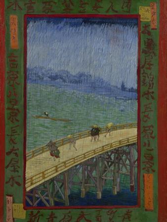 Japonaiserie: The Bridge in the Rain (after Hiroshige), Paris, 1887 by Vincent van Gogh