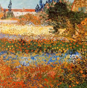 Jardin fleuri a Arles (Détail) by Vincent van Gogh