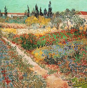 Jardins En Fleurs Avec Sentier by Vincent van Gogh