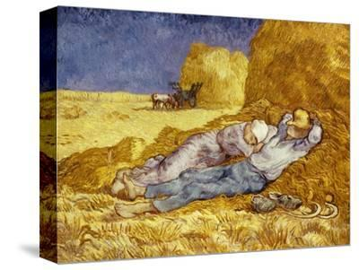 La Méridienne Ou La Sieste, Siesta at Noon, after 1866 Pastel Drawing by Millet, 1890