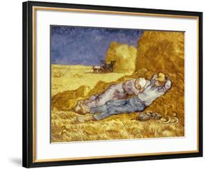 La Méridienne Ou La Sieste, Siesta at Noon, after 1866 Pastel Drawing by Millet, 1890 by Vincent van Gogh