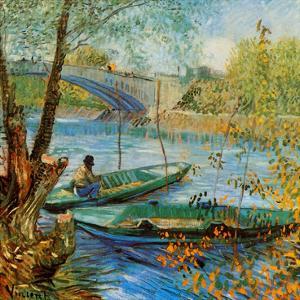 La Pêche Au Printemps, Pont De Clichy by Vincent van Gogh