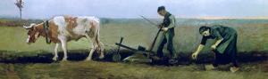 Labourer and Peasant Planting Potatoes, c.1884 by Vincent van Gogh