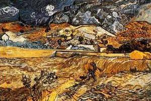 Landscape in St. Remy, c.1898 by Vincent van Gogh