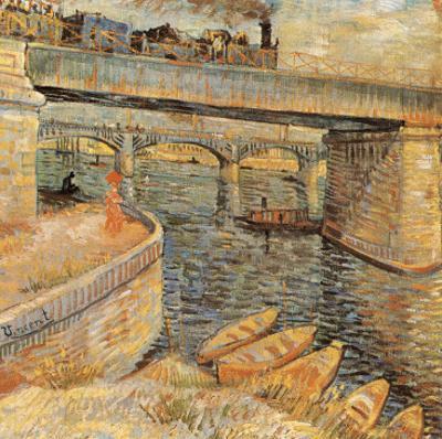 Le Pont De Langlois A Arles Avec Dame Au Parapluie