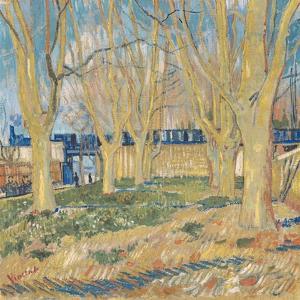 Le Train Bleu by Vincent van Gogh