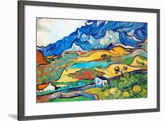 Vincent Van Gogh Les Alpilles a Mountain Landscape near Saint-Remy-Vincent van Gogh-Framed Art Print