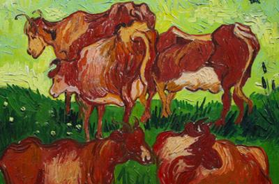 Les Vaches by Van Gogh by Vincent van Gogh