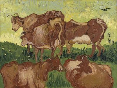 Les vaches, d'après Jacob Jordaens et Van Ryssel by Vincent van Gogh
