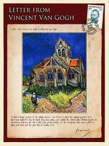 Letter from Vincent: Church at Auvers, C1890 by Vincent van Gogh