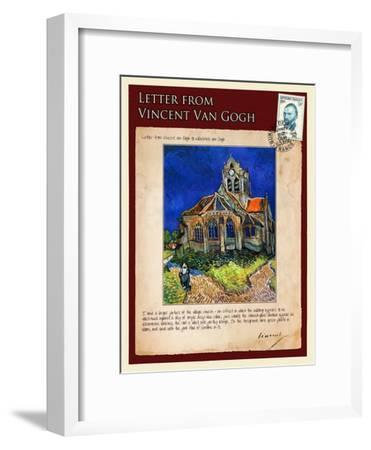 Letter from Vincent: Church at Auvers, C1890