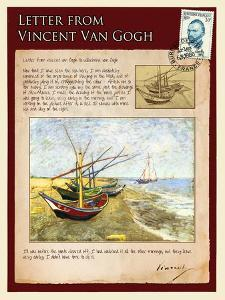 Letter from Vincent: Fishing Boats on the Beach at Saintes-Maries by Vincent van Gogh