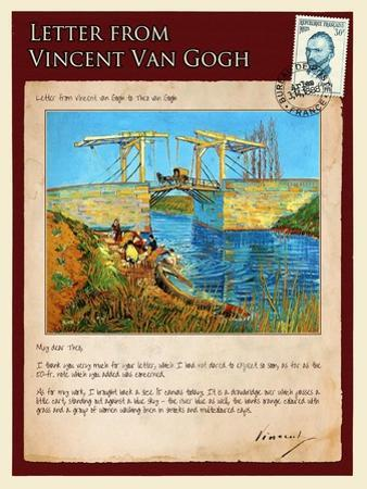 Letter from Vincent: Langlois Bridge at Arles with Women Washing