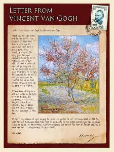 Letter from Vincent: Pink Peach Tree in Blossom by Vincent van Gogh