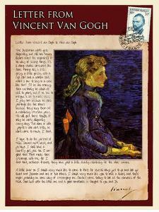 Letter from Vincent: Portrait of Adeline Ravoux by Vincent van Gogh