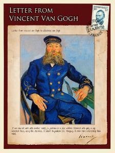 Letter from Vincent: Portrait of the Postman Joseph Roulin by Vincent van Gogh